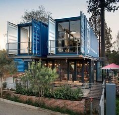 two story container home