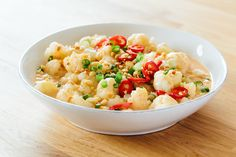 Cauliflower in Peanut Sauce - sub your favorite FMD approved nut butter for the peanut butter