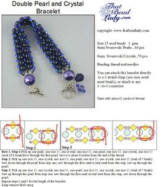 Free Bracelet Pattern by Cathy Lampole featured in Bead-Patterns.com previous Newsletter!