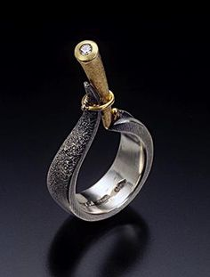 Ring | Andy Cooperman.  Sterling silver, 18k gold, diamond || Photo by Doug Yaple.