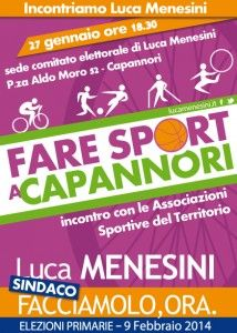 Incontro con Luca Menesini con le Associazioni Sportive del Territorio