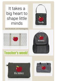 Thirty-One gift ideas for Teacher Appreciation Week! Thirty One Party, Thirty One Gifts, Thirty One Uses, Teachers Week, Thirty One Organization, Thirty One Business, Thirty One Consultant, 31 Gifts, 31 Bags