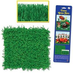 Packaged Tissue Grass Mats Party Decoration