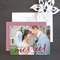 Merrier Joy Holiday Photo Cards by Sarah Brown   Elli