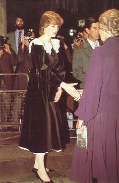 1981-11-03 Diana and Charles attend the 25th London Film Festival at the National Film Theatre