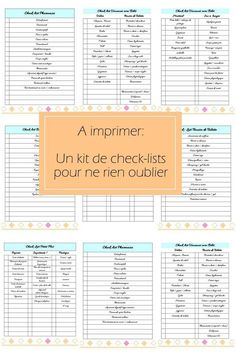 Kit de fiches organisation a imprimer check list - Audrey Cha - Diy Organisation, Organization Bullet Journal, Planner Organization, Bujo, Agenda Planner, Burn Out, Flylady, Paint Colors For Living Room, Room Paint