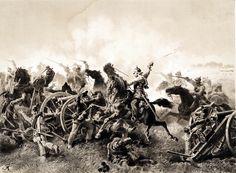 El 5º regimiento de coraceros de la caballería prusiana en la batalla de Tobitschau, 16 de julio de 1866. http://www.elgrancapitan.org/foro/viewtopic.php?f=21&t=11680&p=916269#p916209