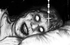 "Horror Movie Art : The Exorcist 1973 ""Regan Demon"" by Sam Wolfe Connelly"
