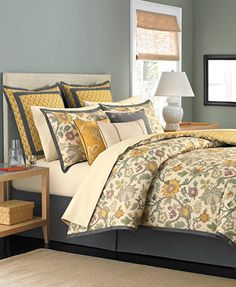 CLOSEOUT! Martha Stewart Collection Provence 6 Piece Comforter Sets