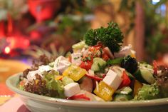 Greek Salad, Cafe Restaurant, Cobb Salad, Food, Meal, Essen, Hoods, Meals, Eten