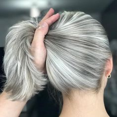 81 Stunning Ash Brown Hair Colors Ideas For You The most beautiful hair ideas, the most t Ash Brown Hair Color, Cool Hair Color, Silver Hair Colors, Grey Hair Colors, Silver Hair Dye, Silver Grey Hair Gray Hairstyles, Ash Grey Hair, Long Silver Hair, Silver White Hair