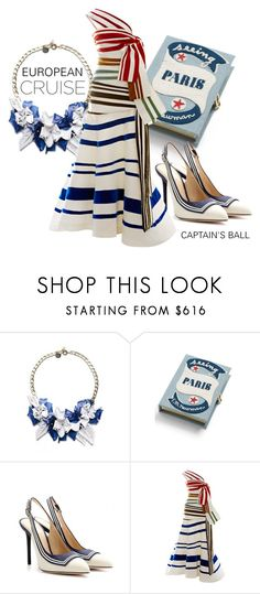 """""""Anchors Aweigh: Cruise Ship Vacation"""" by twinkle-misfit ❤ liked on Polyvore featuring Matthew Williamson, Olympia Le-Tan, Charlotte Olympia and Rosie Assoulin"""