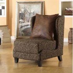 Hampton Leopard Fabric Club Chair & Coordinating Pillow