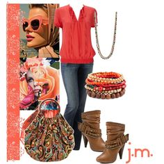 Coral, created by jenniemitchell on Polyvore