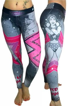 S2 Activewear - Retro Wonder Woman Leggings Everyone loves the superhero, Wonder Woman from the Justice League of the DC Comics universe! These super colorful and fun leggings fit great, last forever and will make your friends jealous! https://ronitaylorfitness.com/collections/s2-activewear/products/retro-wonderwoman-superhero-leggings