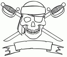 coloriage drapeau pirate pirate themepirate birthdaypirate partyhalloween coloring pagesfree printable