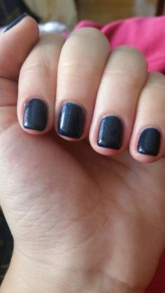 Blue black nails