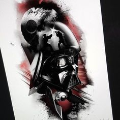 Can't wait to be at the Brussel tattoo convention this week end. Will be doing to half sleeve obout starwar. by thomascarlijarlier Darth Vader Tattoo, Half Sleeve Tattoos Color, Half Sleeve Tattoos Designs, War Tattoo, Star Wars Tattoo, Vader Star Wars, Star Wars Art, Star Wars Zeichnungen, Star Wars Drawings