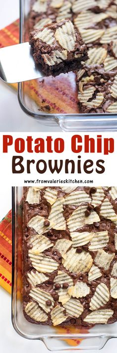 I took my two most frequent food loves and baked them into one entirely delicious brownie. These Potato Chip Brownies are a delicious sweet and salty treat! #ad #SayYesToSummer @FritoLay