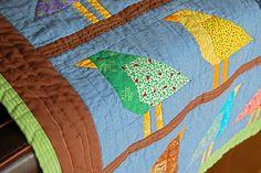 "baby quilt: ""Adelaide's birds"" (detail)"