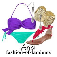 """Ariel"" by fofandoms ❤ liked on Polyvore featuring Dorothy Perkins, Carlos by Carlos Santana, ariel, disney fashion, the little mermaid and disney"