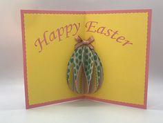 Pop-up Easter Egg Card Diy Easter Cards, Easter Crafts, Easter Decor, Easter Ideas, Spring Crafts, Holiday Crafts, Egg Card, Pop Up Cards, Creative Cards