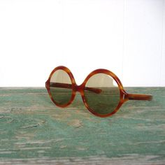 Vintage 60s Sunglasses / Oversize / Round by SmallEarthVintage, $74.00
