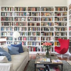 Stunning Home Library Ideas for Your Home. The love of reading is great, home library are awesome. However, the scattered books make the feeling less comfortable and the house a mess. Home Library Design, Dream Library, House Design, Library Wall, Library Ideas, Cozy Library, Beautiful Library, Floor To Ceiling Bookshelves, Bookshelves In Bedroom