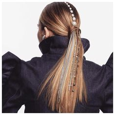 Never a dull pony 🙌 Mohawk Hairstyles, Headband Hairstyles, Pretty Hairstyles, Hairstyle Ideas, Bridesmaid Hair, Prom Hair, Ombre Highlights, Sleek Ponytail, Hair Jewelry
