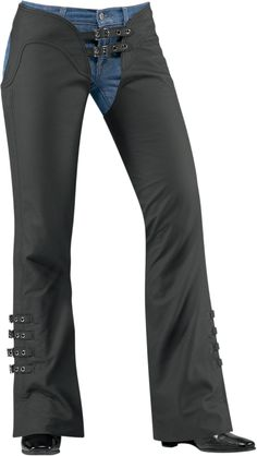 Over the years we've redefined the nature of women's motorcycling gear. The Hella chap continues this lineage with it's wholly refined fit and function. Its all there-quality leather chassis, intricate trims, and full length YKK® zippers. Leather thigh laces allow for a tailored fit while the cut to fit legs allow length perfection no matter what your height. Yep it's all there except the butt panel - which is why we call them chaps not pants. from Icon Motosports