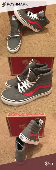 Canvas SK8-Hi Reissue Vans New in box. Tornado racing red Vans Shoes bf8424da1