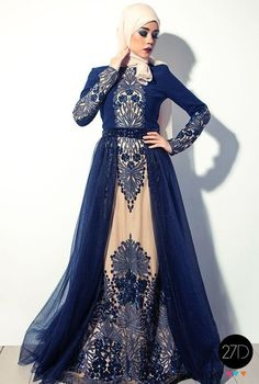 Outstanding Long Luxurious Gown with Hijab for Formal Looks – Girls Hijab Style & Hijab Fashion Ideas