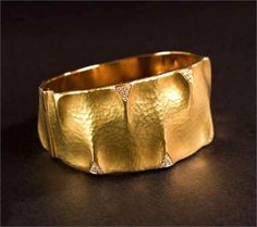 gold hammered cuff