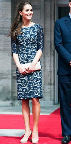 Look of the Day › July 1, 2011 WHAT SHE WORE The Duchess of Cambridge attended an official welcoming ceremony in Canada sporting a lace Erdem design accessorized with nude L.K. Bennett pumps and a matching clutch.