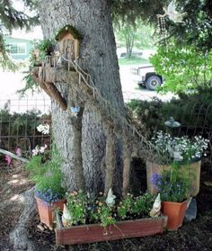 Amazing Fairy Stump Garden