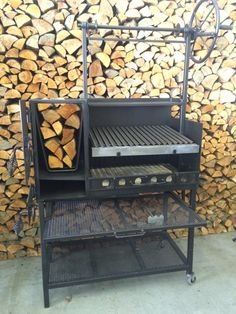 Argentine barbecue grills feature heavy duty thick steel construction, a side brazero Smokehouse Grill, Barbecue Grill, Grilling, Barbacoa, Argentine Grill, Brazilian Bbq, Outdoor Stove, Grill Design, Best Bbq
