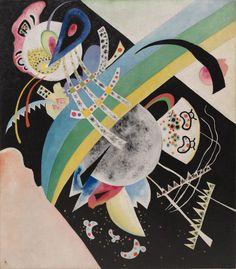 Collection Online | Vasily Kandinsky. Circles on Black (Krugi na Chyornom). 1921 - Guggenheim Museum