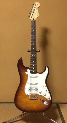 Fender Mexico stratocaster standard hss plustop tobacco sunburst/rosewood