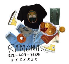 """i heard ramona sing"" by kampow ❤ liked on Polyvore featuring Converse, indie, Punk, grunge, art and aesthetic"