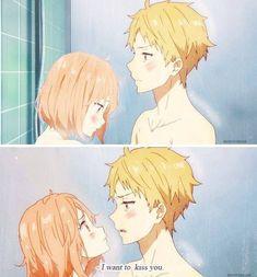 anime, kyoukai no kanata, and kiss image Anime Love Couple, Cute Anime Couples, I Love Anime, Holly Hobbie, Otaku Anime, Manga Anime, Mirai Kuriyama, Tamako Love Story, Kamigami No Asobi