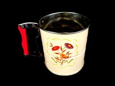 Vintage Floral Flour Sifter by FinishingTouchResale on Etsy, $16.00