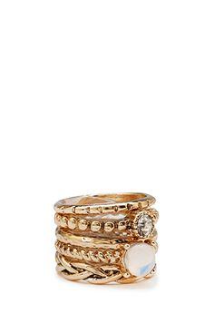 Stackable Embellished Ring Set $4.80