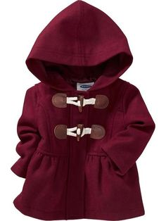 Old Navy baby Fall Fashion. Hooded Toggle Coat for Baby