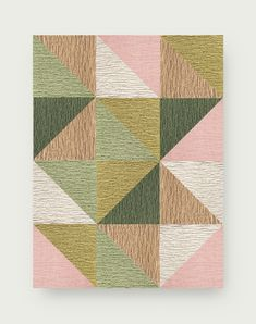 This area rug features Made You Look in Bone, Blush, Tawny, Clover, Mint, and Forest. To assemble your rug, just use the FLORdots in the box with your tiles. | Garden Variety - Blush Masculine Master Bedroom, Flor Rug, Smart Styles, Carpet Tiles, Creative Design, Free Design, Area Rugs, Blush, House Design
