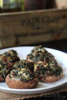 Spinach & Goat Cheese Stuffed Mushrooms