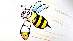 bee / 꿀벌 / How to draw a honeybee/ bee / 꿀벌그리기 / 손그림 / 그림배우기