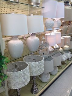 "Hobby Lobby Lamp Shades Delectable This Fabulous 23"" White Ceramic Lamp With Flower On Base Is The Inspiration"