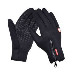 Outdoor Sports Hiking Winter Bicycle Bike Cycling Gloves For Men Women Windstopper Simulated Leather Soft  Warm Gloves  Price: 4.09 USD