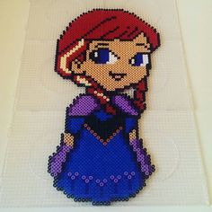 Disney Frozen Anna perler by staubtaenzerin on DeviantArt