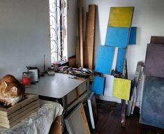 Pallet, Desk, Studio, Canvas, Furniture, Instagram, Home Decor, Tela, Shed Base